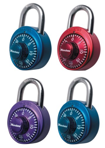 ML-1530DCM - Masterlock Xtreme Color Combination Lock - 4 Metallic Locks (4/24)