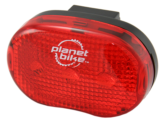 PB-3009 - Planet Bike Blinky 3,  3 LED Tail Light  (50/100) +