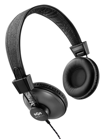 HM-EM-JH013-PS - Marley Positive Vibration 3 button Controller Headphones w/Mic- Midnight Black (4/12)