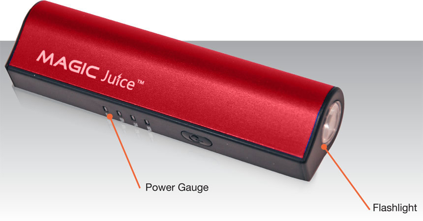 VP-PB-BK05R-VP - VuPoint Magic Juice 2800mAh Smartphone Backup Charger Red    (40)