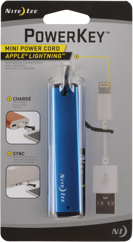 NI-PKYL-03-R7 - Nite Ize PowerKey Mini Power Cord - Apple Lightning - Blue   (4/24)