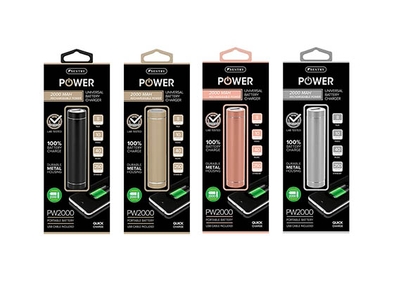 SE-PW2000 PDQ - Sentry 6-Piece 2000mAh USB Mobile Rechargeable Battery Display